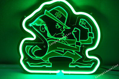 New Notre Dame Fighting Irish 3D Acrylic Beer Bar Pub Real Neon Sign Free SHIP