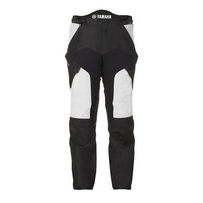 Yamaha Mens Y-Crosstour Black/Grey Textile Motorcycle Trousers.