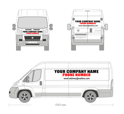 iveco daily crewcab dropside 14 van sign writing sticker kit with install kit