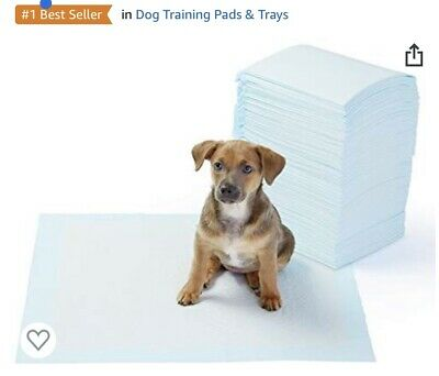 AmazonBasics Pet Training and Puppy Pads, Regular and Heavy Duty - Pack Of 100
