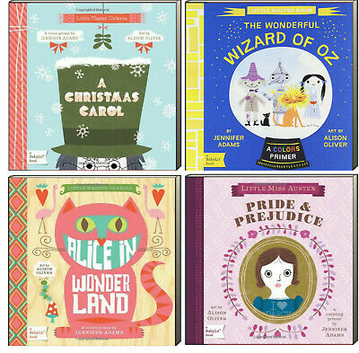 Baby Lit Primers : Wizard of Oz, Alice,Pride, Christmas Carol (4 Board Books)