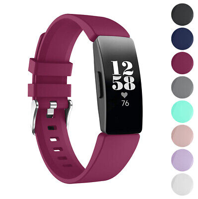 StrapsCo Silicone Rubber Watch Band Strap for Fitbit Inspire & Inspire HR