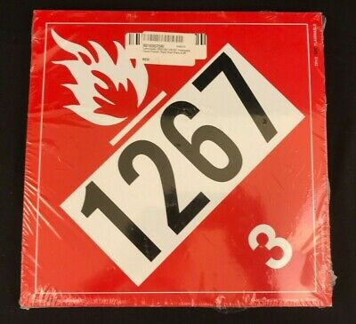Labelmaster ZRV21267 UN1267 Flammable Liquid Hazmat Placard, Vinyl, 25 Pack