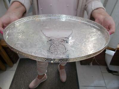 Vintage Silver Plated Barker Ellis Gallery Tray In Lovely Condition