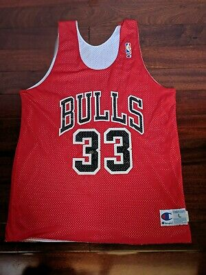 e6a714ec8 Vintage Champion NBA Chicago Bulls Scottie Pippen Basketball Jersey RARE  VINTAGE