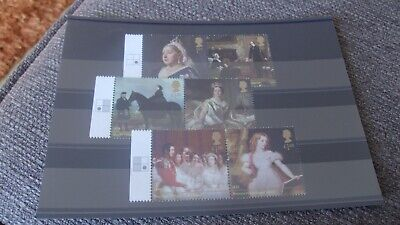 Gb 2019 Queen Victoria Set Of 6 Mint Stamps With Position Block  On Tabs - Mnh