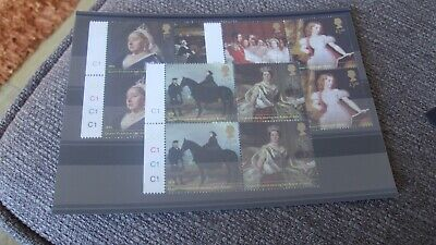 Gb 2019 Queen Victoria Set Of 12 Mint Stamps With C1  On Tabs - Mnh - 3 X Blocks