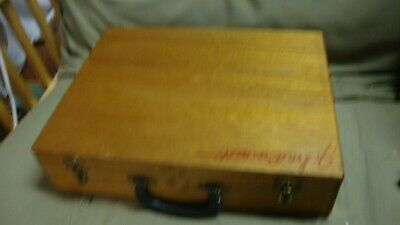 Vtg Wood Painter Storage Case