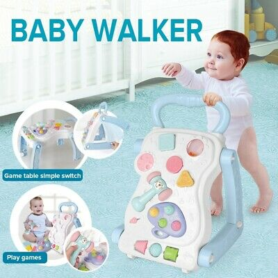 Baby Walker Activity Bouncer Musical Toys Trolley Sit-to-Stand Walker First Step