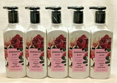 5 Rose Water & Ivy Creamy Luxe Hand Soap Bath & Body Works 8 Oz