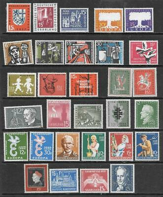 "SAAR - 1957-59 ""Return to Germany"" Period - Complete Commems, MNH.  Cat £17+"