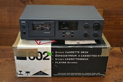 NAD 602 Single Cassette Deck * MINT ! * Works Well with Manual & Original Box !