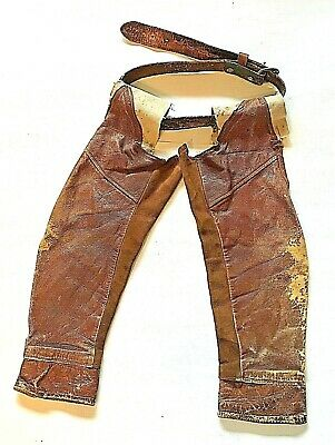 Rustic Childs Home Made Chaps Vintage Cowboy Collectable