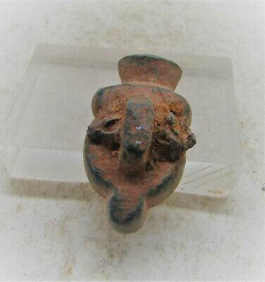 Ancient Near Eastern Bronze Face Mount Very Unusual