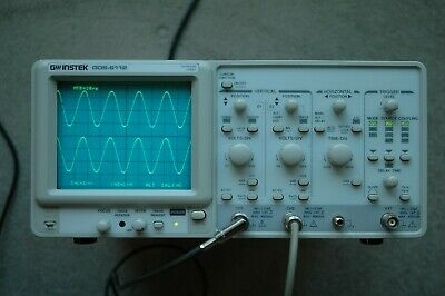 GW INSTEK GOS-6112 100MHz  Analog Oscilloscope, Calibrated, 2 probes, Power Cord