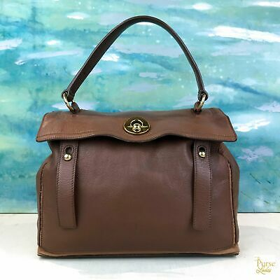 9146fd99ce $750 Yves Saint Laurent YSL Brown Tan Muse 2 Bag Satchel Leather Gold