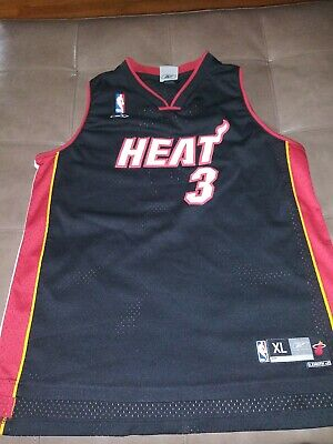 7c576adb2 Youth XL Mens S Reebok Authentic Dwayne Wade Miami Heat Swingman Jersey  Vintage