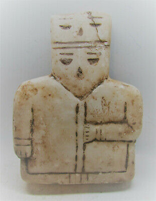Scarce Circa 3000-2000Bce Ancient Near Eastern Alabaster Carved Idol