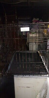 36in long x 25in tall Petco brand folding dog cage with tray, 1 door