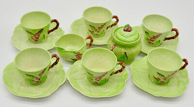 15 Pieces Carlton Ware Foxglove Cups Saucers Creamer Sugar Green Pink Flowers