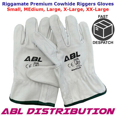 GLOVES Rigger Riggamate Cow Grain Riggers Gloves Pro Choice S,M,L,XL, XXL ABL