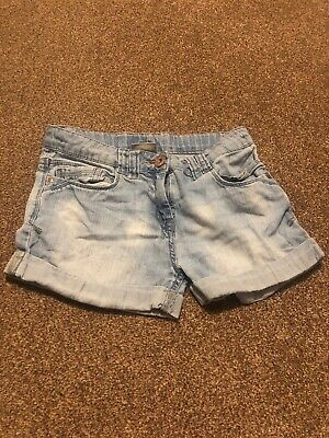 Next blue denim jeans shorts hot pants girls age 12 years