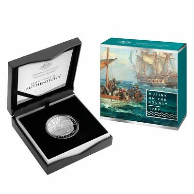2019 $5 Mutiny on the Bounty 1oz Silver Proof Coin only 1,500 Minted