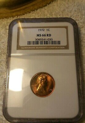 1972-P Lincoln Memorial Cent NGC MS66