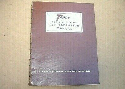 1966 Trane Reciprocating Refrigeration Manual~Maintenance-Service~Air Condition