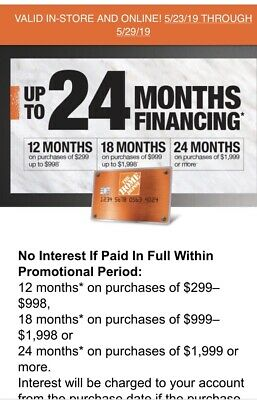 Home Depot Coupon 10 Off Or No Interest Financing Up To 24 Months
