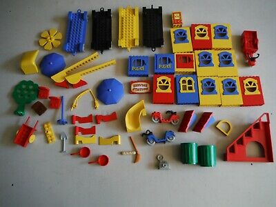 Lego Bulk Lot Of Vintage Fabuland Specialty Pieces Cars Windows