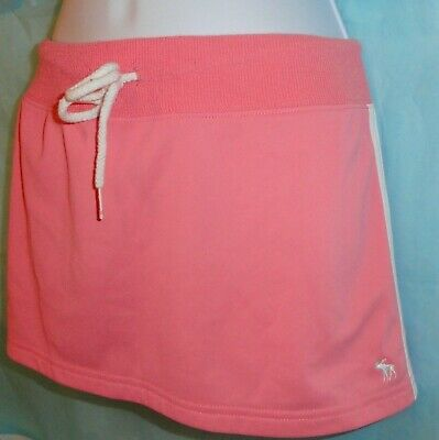 Abercrombie Fitch Tennis Skirt Gym Issue Active Sports Golf Pink Retro  L