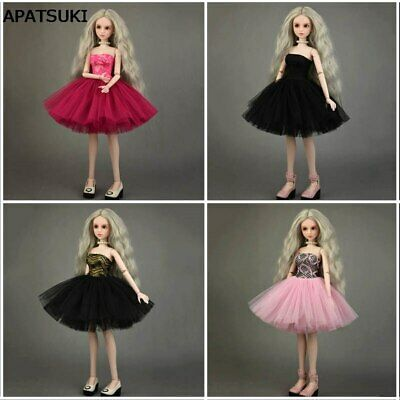 4pcs/lot Fashion Ballet Dress Wedding Dresses For 1/4 Doll Gown Outfits Clothes