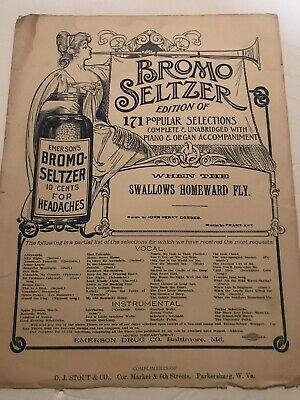 When The Swallows Homeward Fly. Large Format Sheet Music