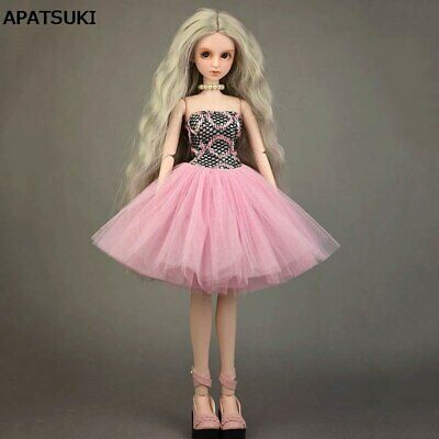 Fashion Pink Ballet Dress Wedding Dresses for 1/4 Doll Clothes Gown Outfits Toy
