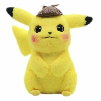2019 Pokemon Center Movie Detective Pikachu Soft Plush Toy Figure Gifts