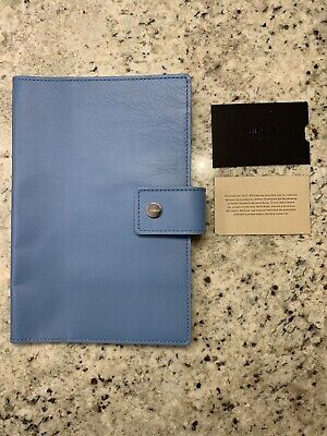 New! $195 SHINOLA Detroit Med Denim Blue Essex Leather Journal Ipad Mini Cover.