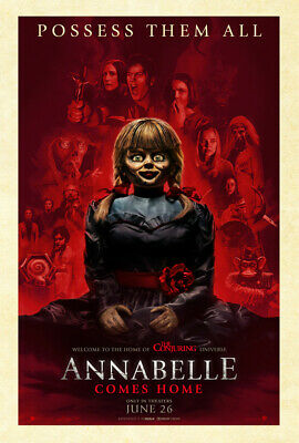 ANNABELLE COMES HOME MOVIE POSTER 2 Sided RARE ORIGINAL Advance 27x40