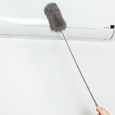 Microfiber Mini Duster Cleaning Brush Dust Cleaner Extendable Handle Soft Fan