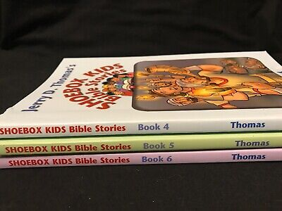 Jerry D. Thomas's Shoebox Kids Bible Stories Lot Of 3  Books 4, 5, & 6 Religious