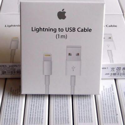 4 Pack  Original OEM Apple Lightning to USB Charge Cable for iPhone X 8 7 6 5
