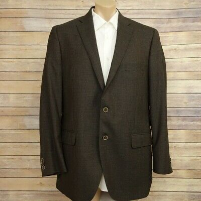 Peter Millar Men's Blazer Sport Coat Jacket Size 44T 2 Button Wool Brown