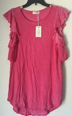 A3013 UMGEE Bohemian Cowgirl Washed Button Up Tunic with Lace Trim Blue