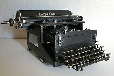 Antique Imperial Typewriter - Glass Sides Excellent Condition - Ingenious Design