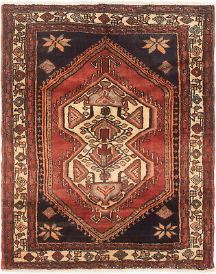 """Hand-knotted Persian Carpet 3'10"""" x 4'10"""" Koliai Traditional Wool Rug"""
