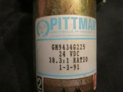 Pittman DC Gearmotor GM9434G225- 24V- 38.3:1 ratio - Output shaft with two flats