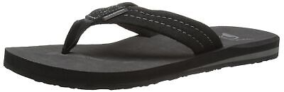 Quiksilver NEW Black Carver Suede 3-point Thong Mens 7 Flip-Flops Sandals 282