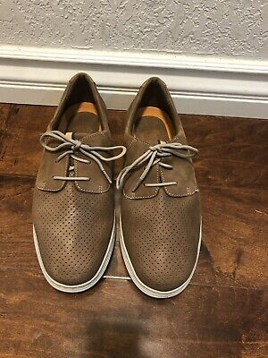 Dunham By New Balance Mens Brown Leather Fashion Sneakers Sz 10 E Us
