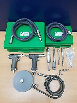 stryker Pneumatic surgical drill system with hand pieces + 2 Hose + foot switch