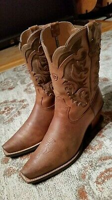 b095e8eeccf ARIAT ROUND UP Sandstorm Cowgirl Boot - Snip Toe - 10015290 ...